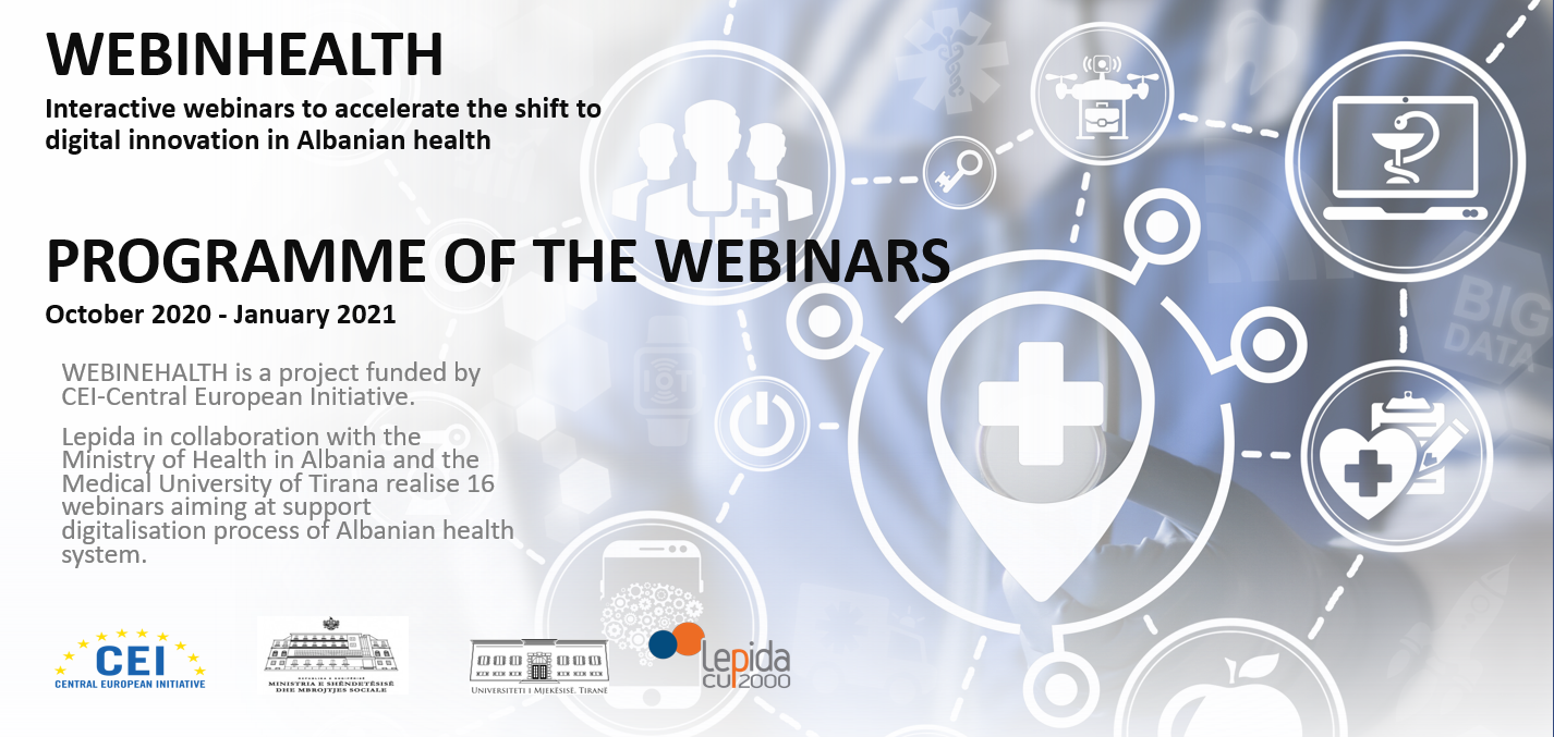 WebinHealth Project logo and banner
